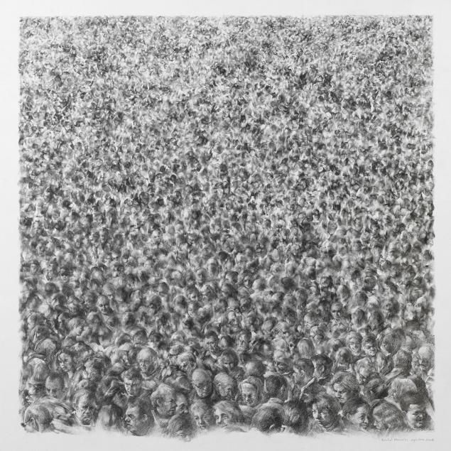 The crowd by Michel Houssin.