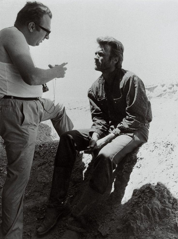 Sergio Leone et Clint Eastwood