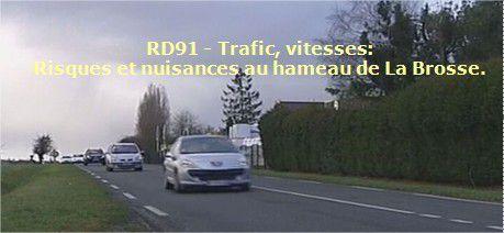 Résumé en 4 pages du rapport détaillé des mesures de bruits et du trafic de la RD91 au niveau du hameau de La Brosse.
