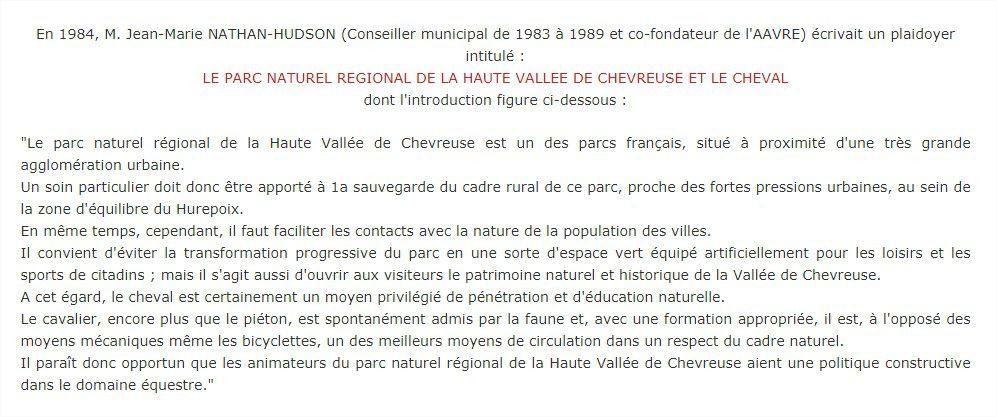 Le Parc Naturel Régional de la Haute Vallée de Chevreuse et le Cheval