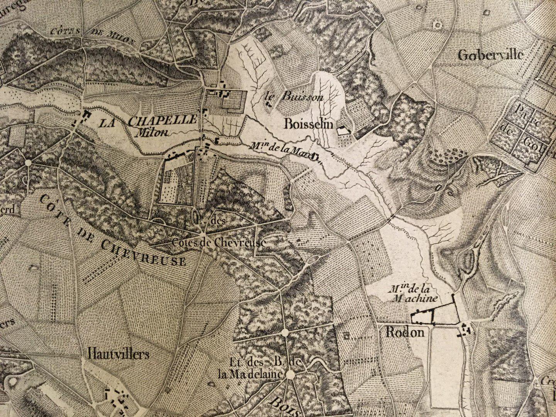 Cartes postales et cartes anciennes de St-Lambert-des-Bois et de Milon-la-Chapelle, et aquarelles de St-Lambert-des-Bois.