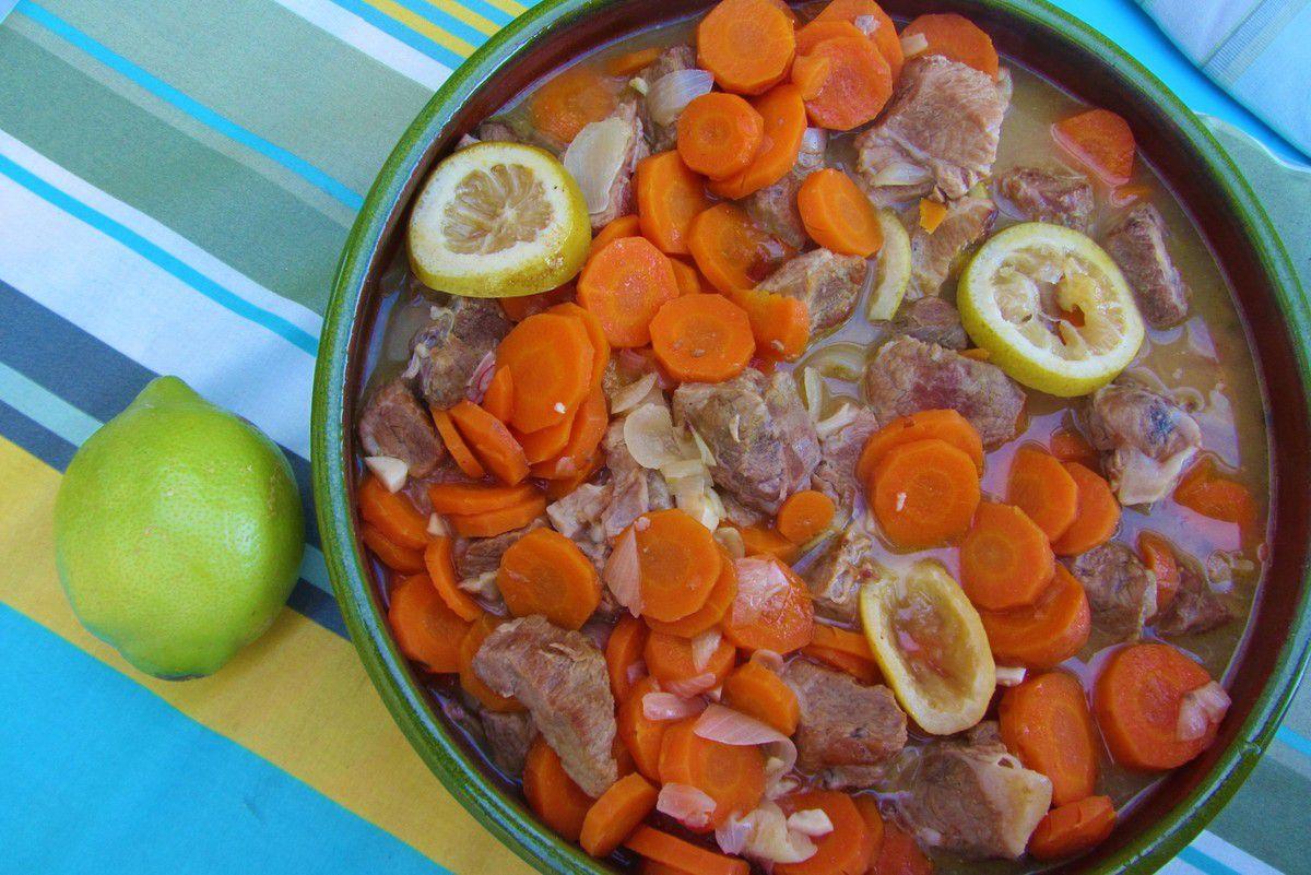 Sauté de veau au citron et au miel