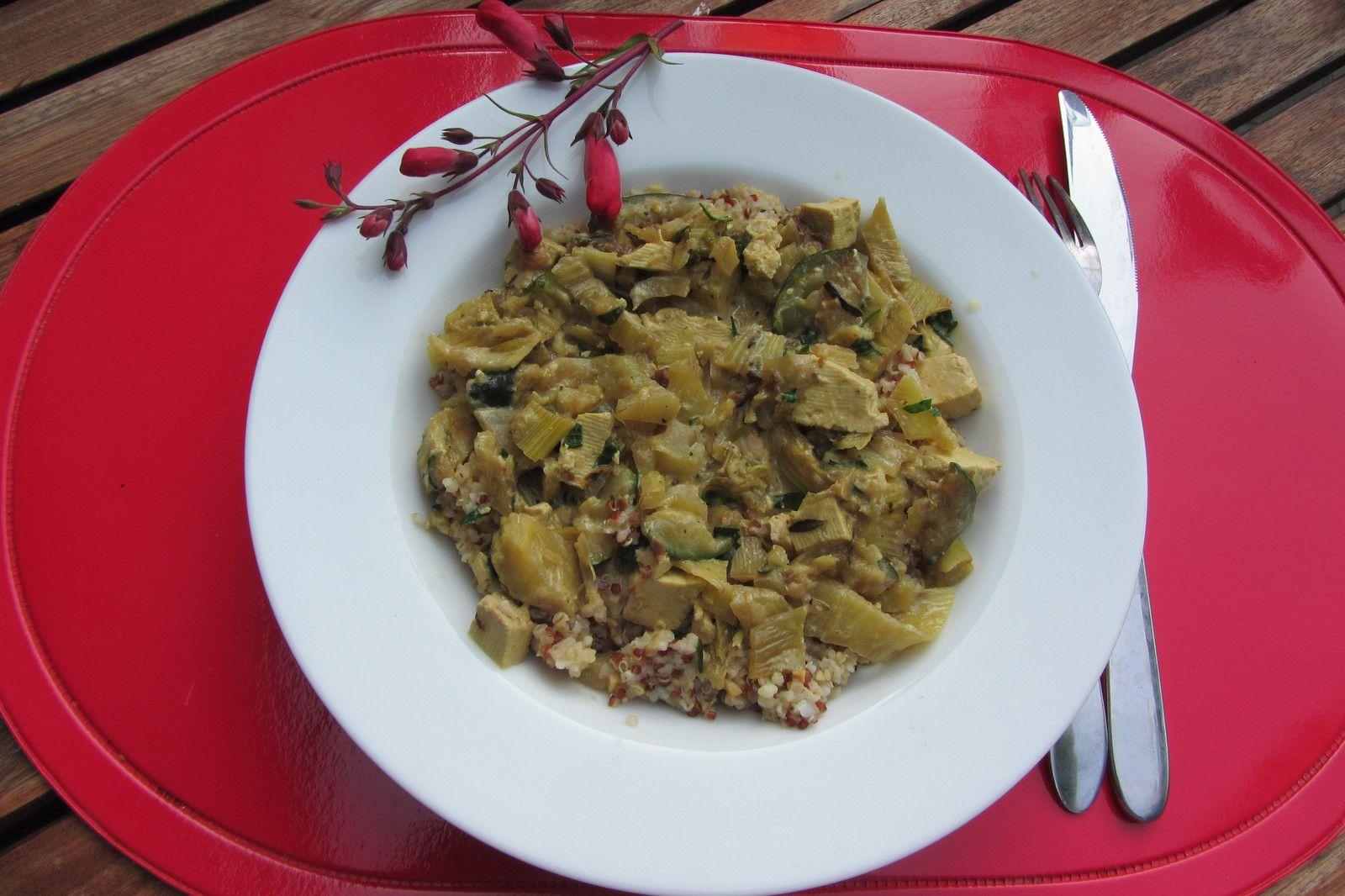 Poêlée de fenouil et courgettes au curry et boulgour multicéréales