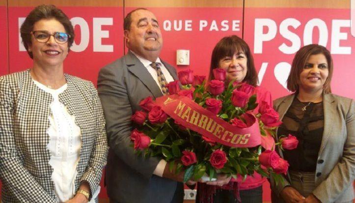 Driss Lachguar s'entretient à Madrid avec la présidente du PSOE