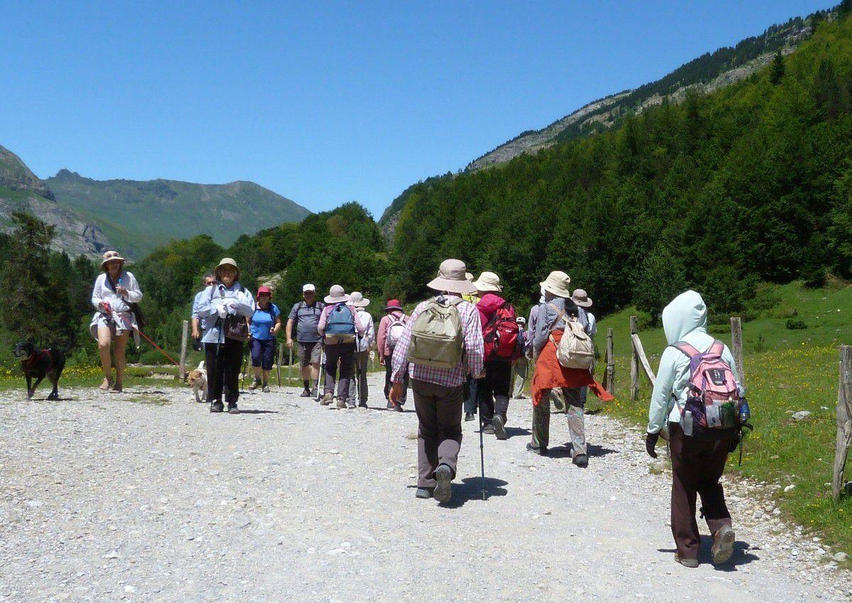 sur notre chemin du retour, un groupe de japonais...Bien couverts.