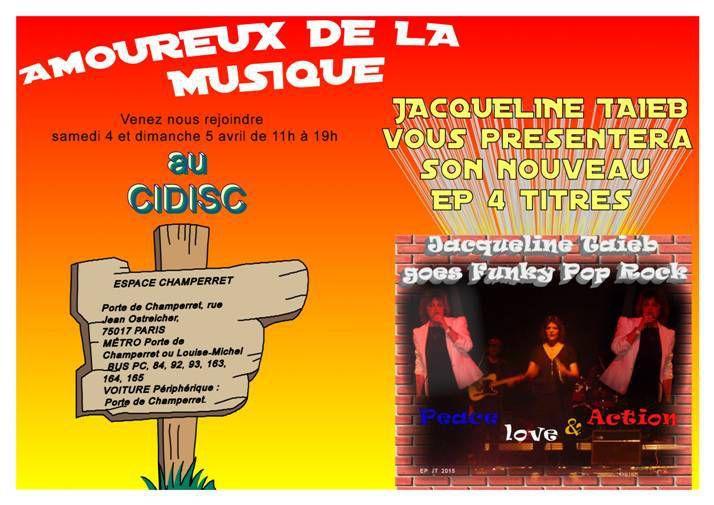 Retour imprévu et fracassant de Jacqueline Taïeb à Paris le 4 et 5 avril 2015