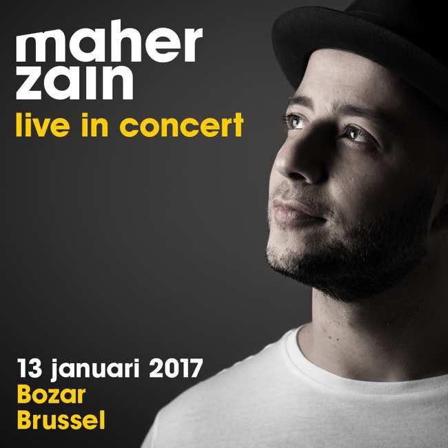 Le 13 janvier, Maher Zain donnera un concert au Palais des Beaux-Arts de Bruxelles