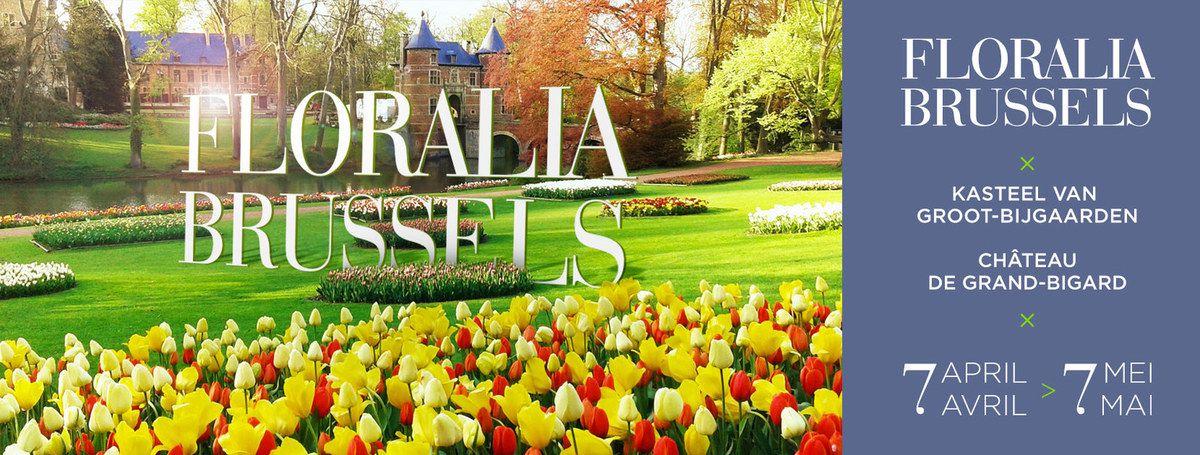 Découvrez le printemps avec Floralia Brussels au château de Grand-Bigard du 7 avril au 7 mai 2017