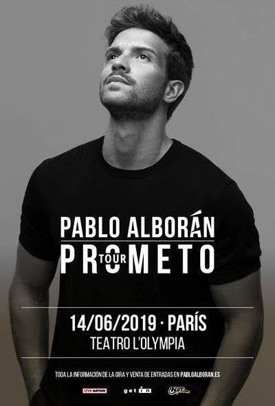 Il sera en concert à Paris, à l'Olympia le 14 juin 2019, et les places seront en vente le jeudi 7 mars à partir de 10h