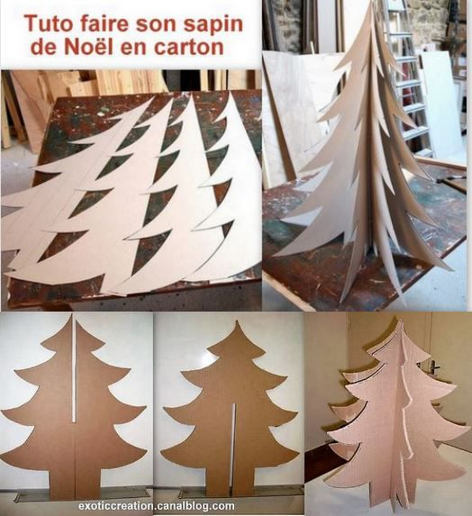 tutos faire un sapin de no l en carton le serviettage de