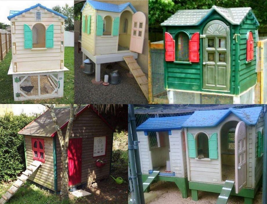 poulaillers maison faits avec des maisons d 39 enfants le. Black Bedroom Furniture Sets. Home Design Ideas