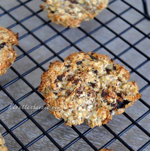 Cookies aux flocons d'avoine & banane (recette légère)