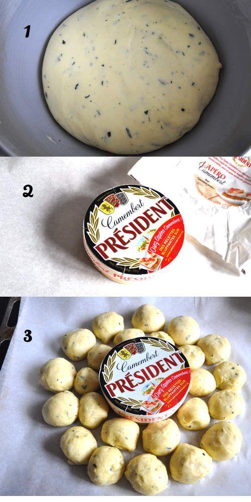 Brioche salée au camembert - idée apéro