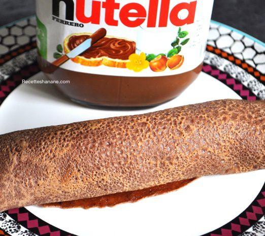 Crêpes au chocolat & Maki de crêpes banane Nutella