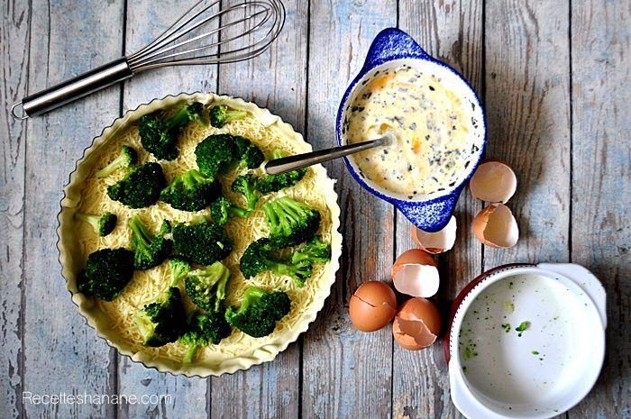 Tarte salée aux brocolis & saumon fumé