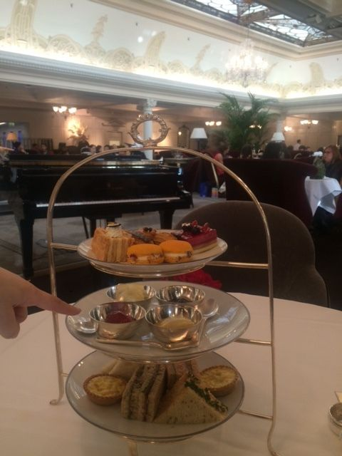 Afternoon tea, au Georgian Restaurant, Harrods