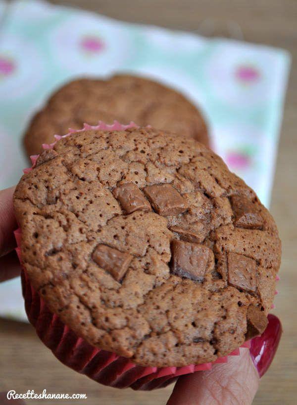 Muffins au chocolat très moelleux