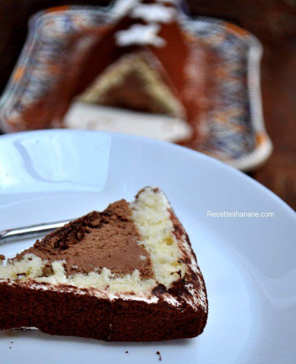 Bûche pyramide vanille chocolat