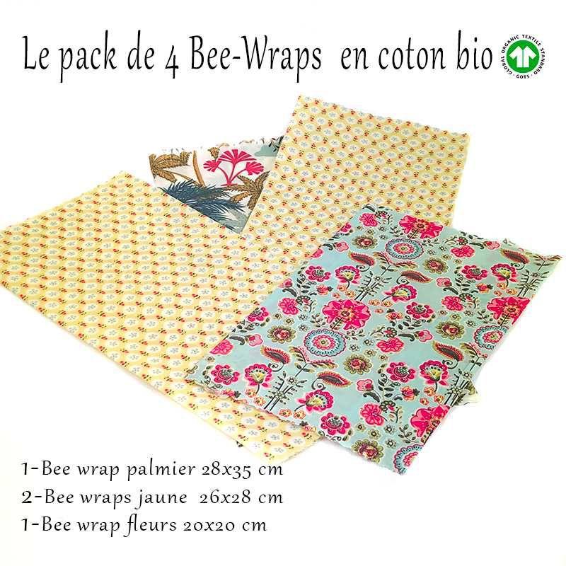 Pack de démarrage  emballage à la cire d'abeille  coton bio