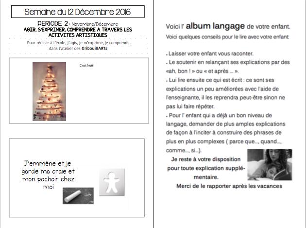 Noël Cahier de liaison N°15(2016-2017)