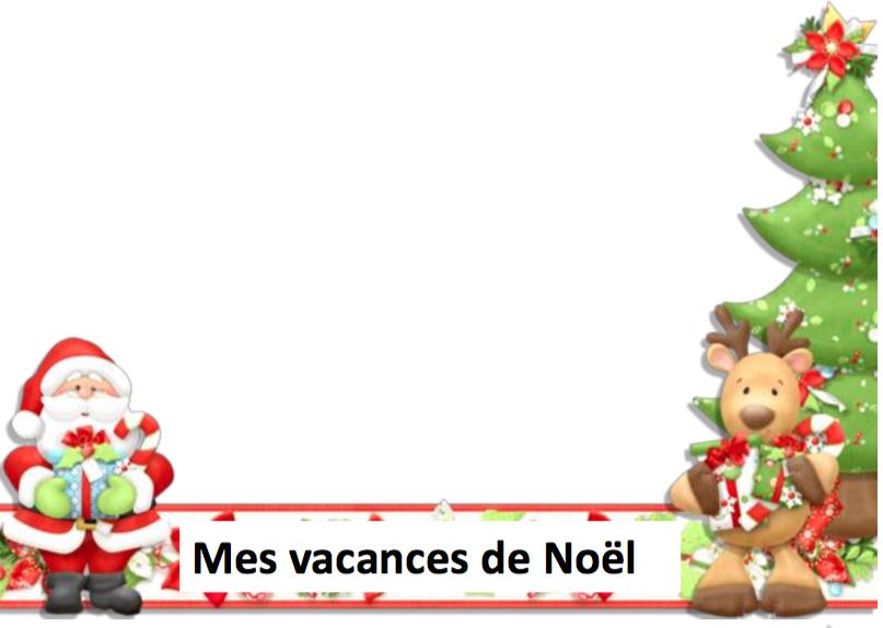 Calendrier vacances de Noël chez Isabelle L