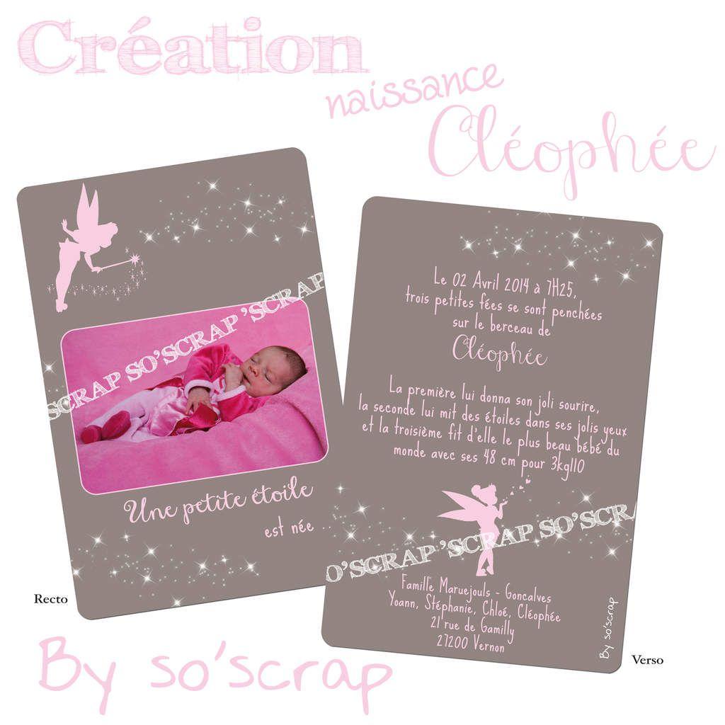 Le faire part de naissance de la petite Cléophée ...