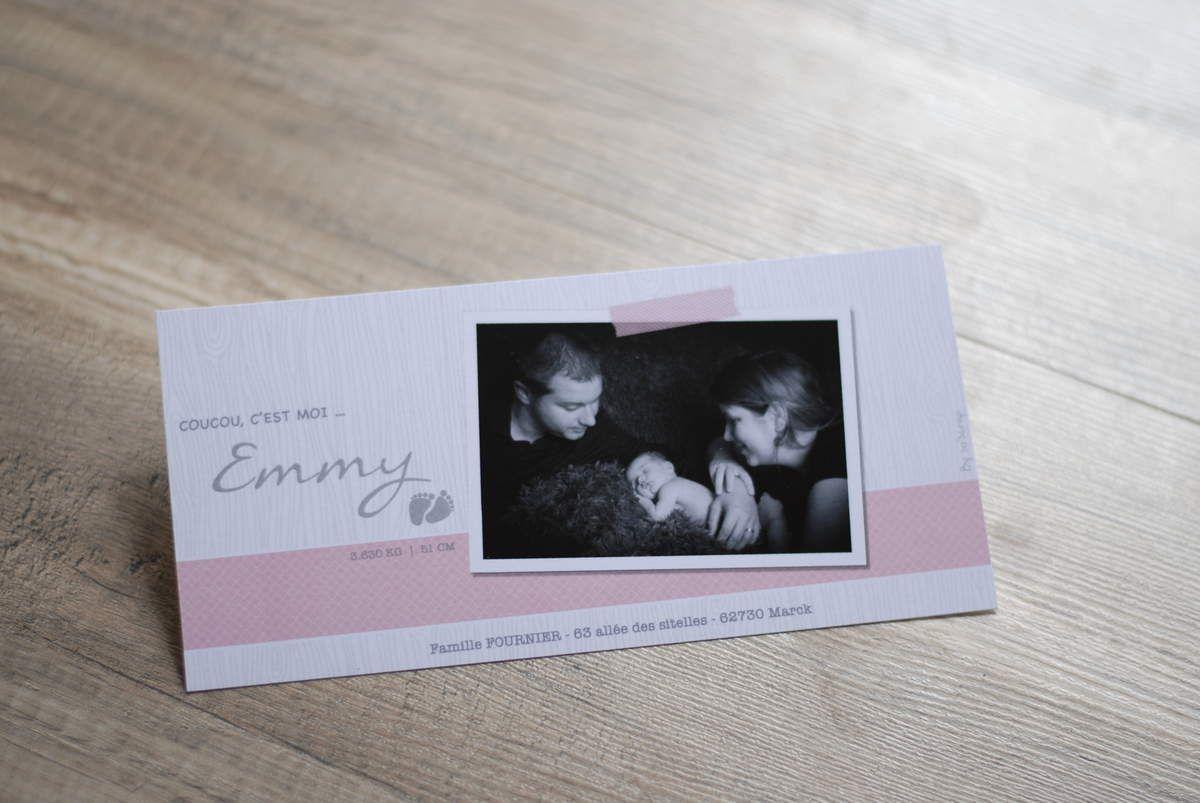 Faire part, création naissance sur mesure, multi photos, photographie Florine Jonnekin, format recto/verso 21x10cm, option timbre photo, scrapbooking digital