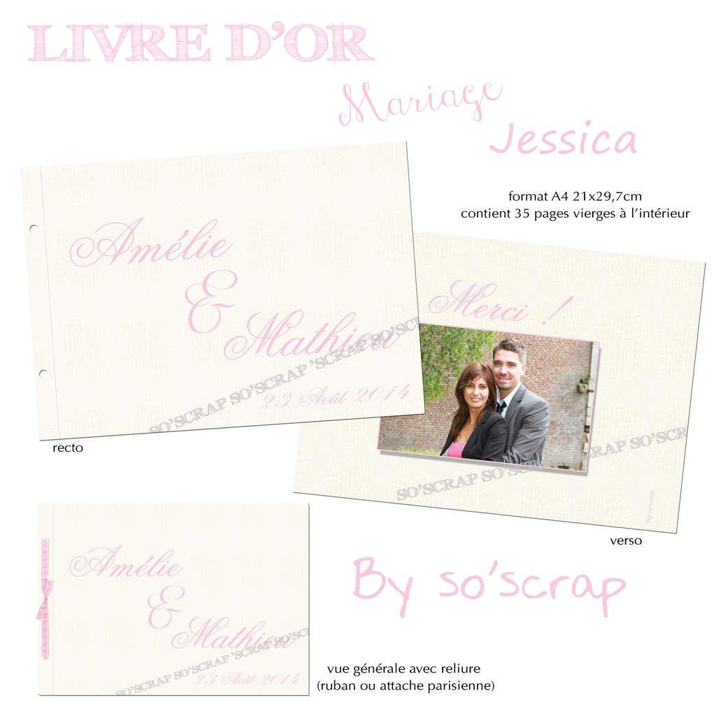 livre d'or de mariage, motif peau de crocodile, rose et blanc, reliure ruban satin rose, scrapbooking digital, à personnaliser avec des photos