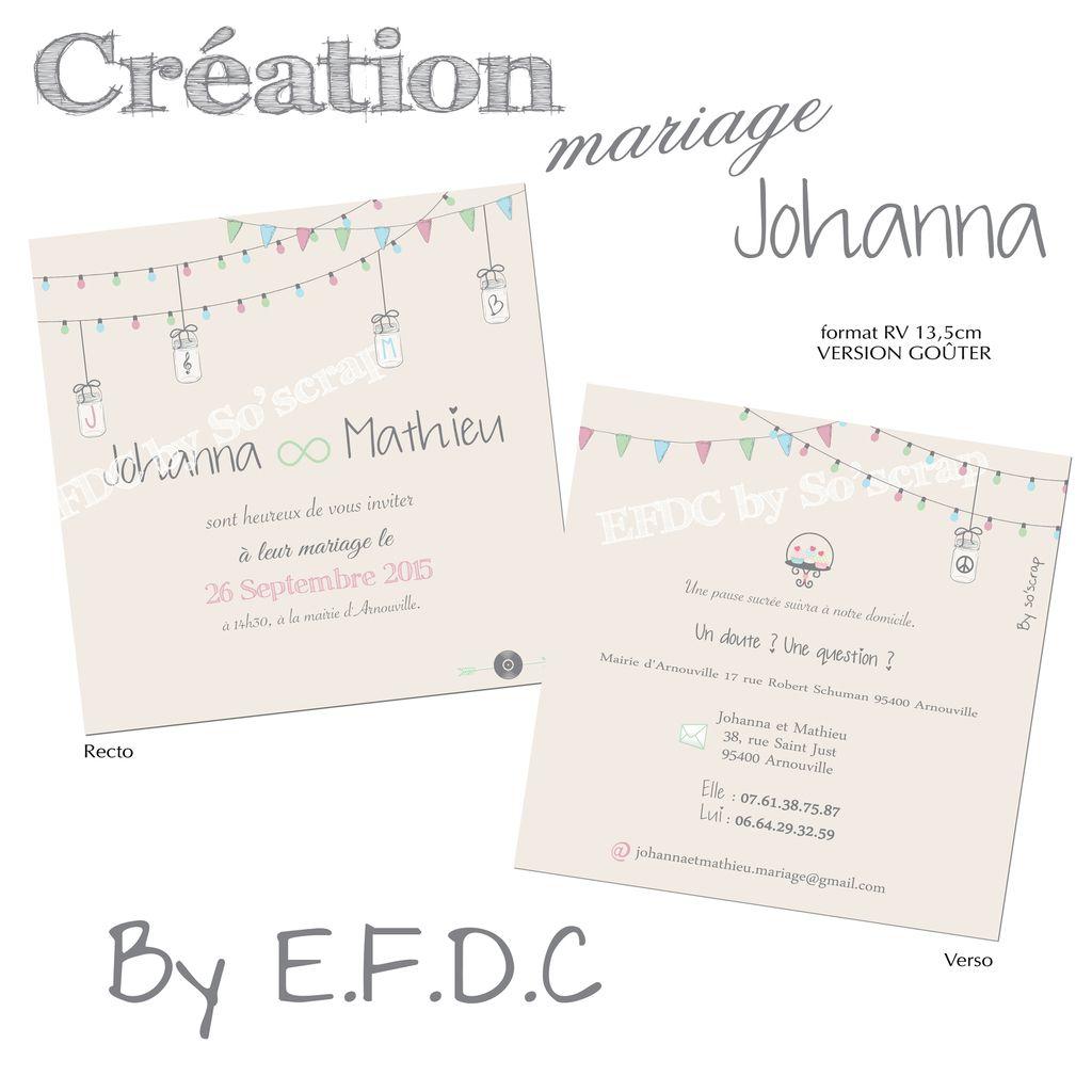 faire part mariage, version invitation goûter, scrapbooking digital