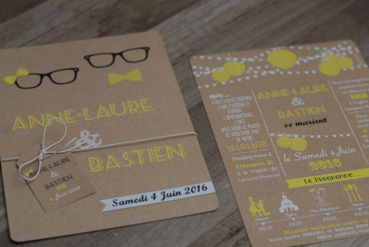 Bien-aimé Le Blog d'EFDC by So'scrap - Le faire part de mariage d'Anne-Laure  DD08