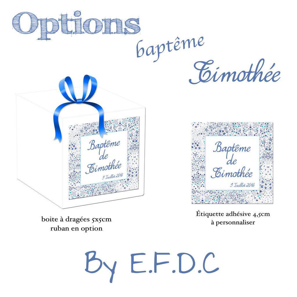 boites à dragées blanche 5cm sans confiseries, étiquette adhésive à personnaliser, liberty étoiles bleu, scrap digital, ruban en option