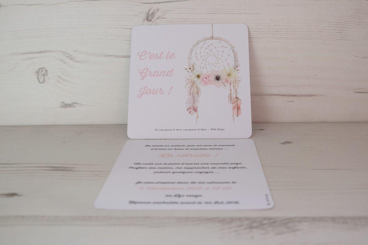 La carte de départ à la retraite de ma douce maman : thème les nouveaux rêves :-)