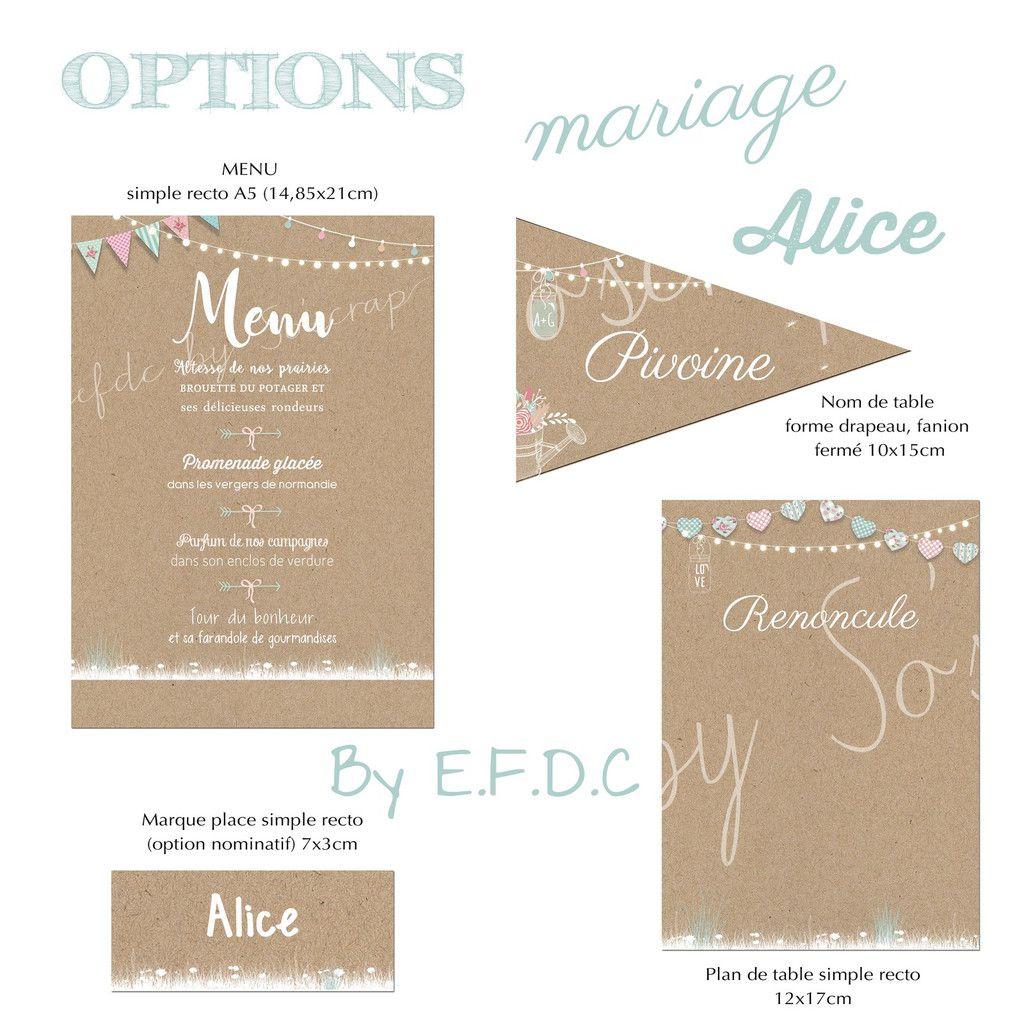 options table #mariage #menumariage #plandetablemariage #efdcbysoscrap#marqueplacemariage #kraft #nomdetablemariage sur mesure et à personnaliser assorties au faire part de mariage