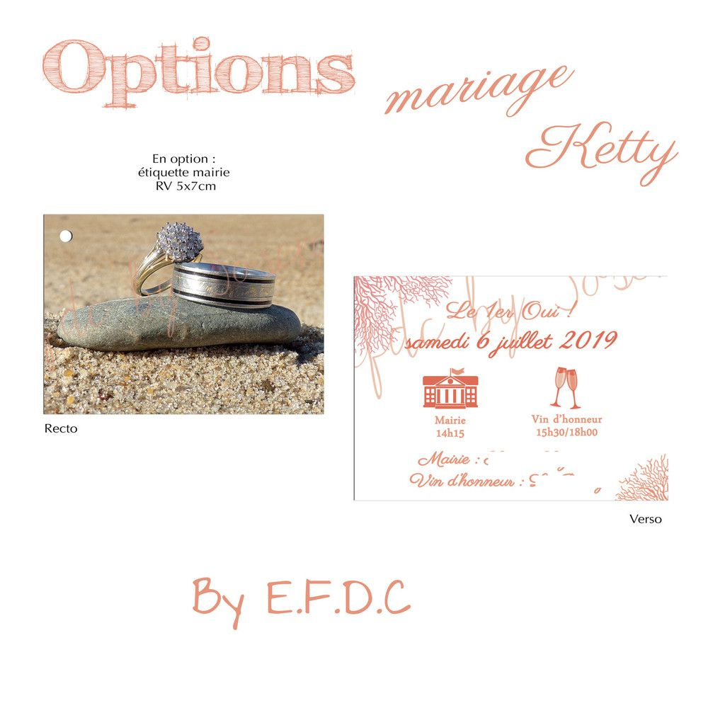 option étiquette invitation mairie #efdcbysoscrap