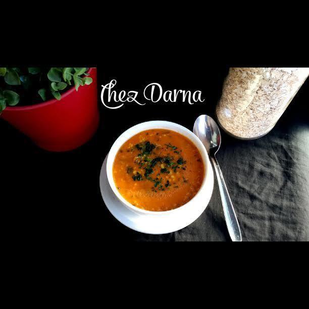 soupe aux flocons d'avoine aux tomates et poulet شربة الخرطال او الشوفان بالطماطم و الدجاج