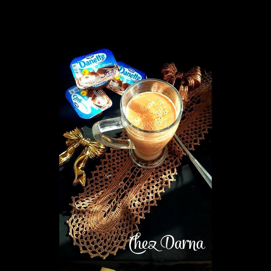 choclat chaud express à la danette مشروب الشوكولاطة الساخنة بالدانيت
