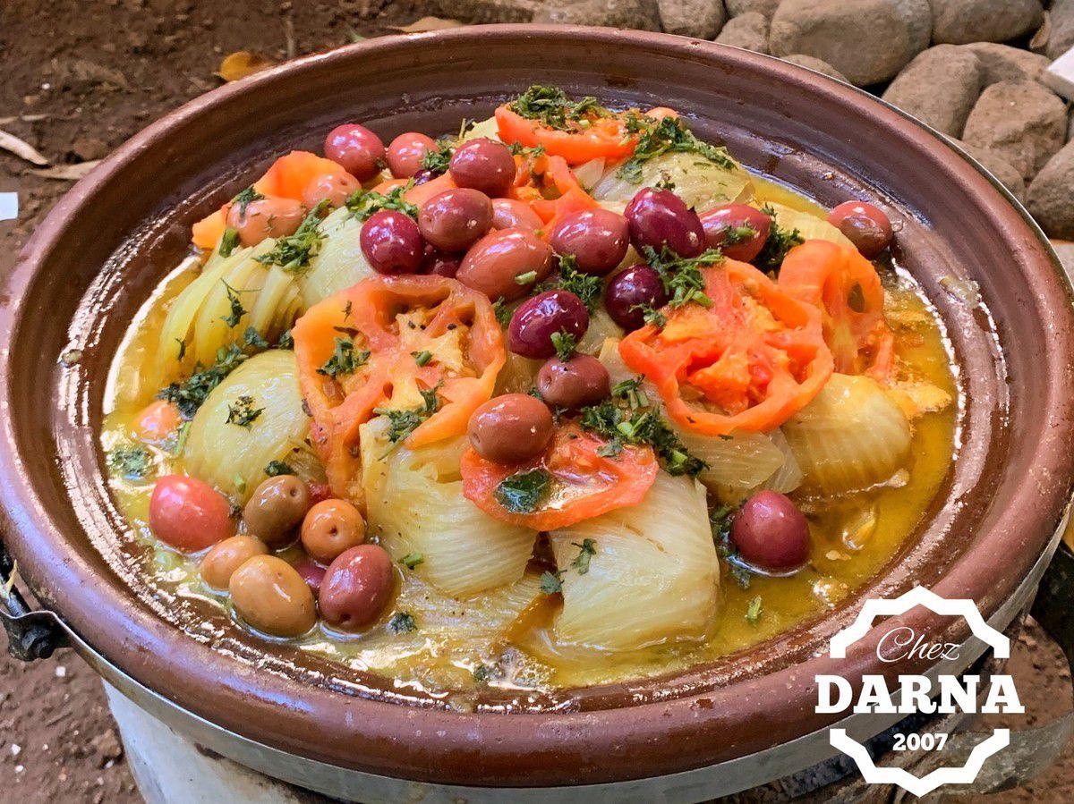 tagine de fenouils aux olives طاجين البسباس بالزيتون الاحمر