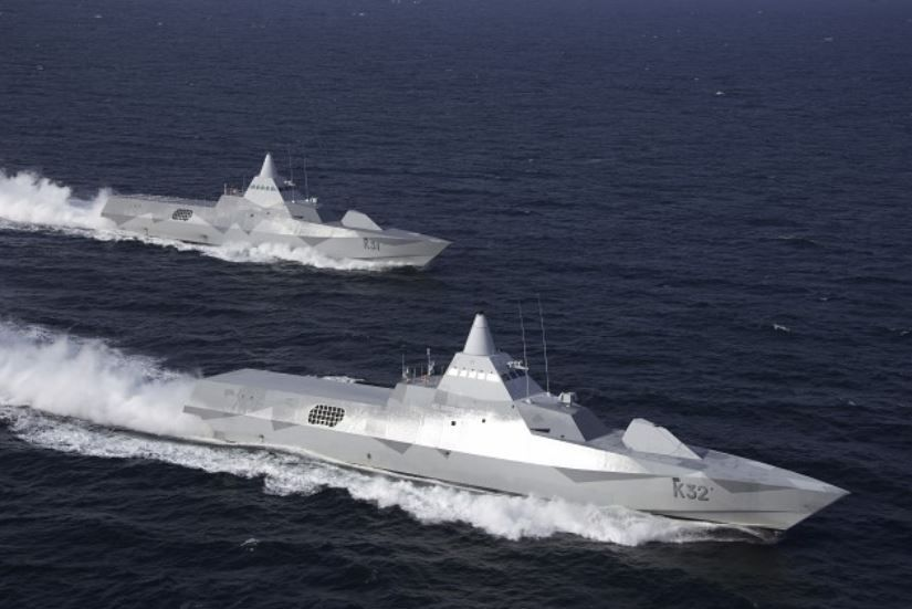 Corvettes de classe Visby à la manoeuvre - photo : Saab Kockums