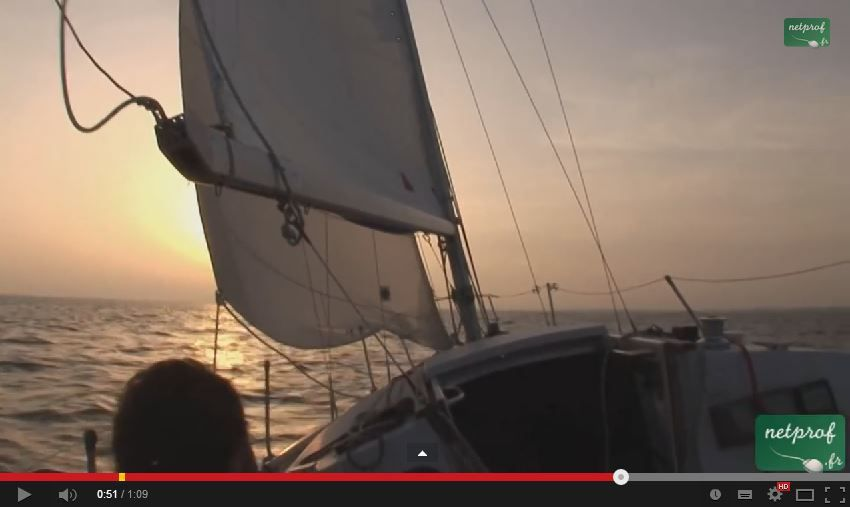 VIDEO cours de voile - Le vent de travers