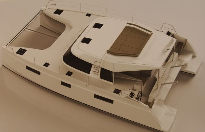 SCOOP Nautic 2014 - Power Cat 40, un catamaran à moteur chez Nautitech