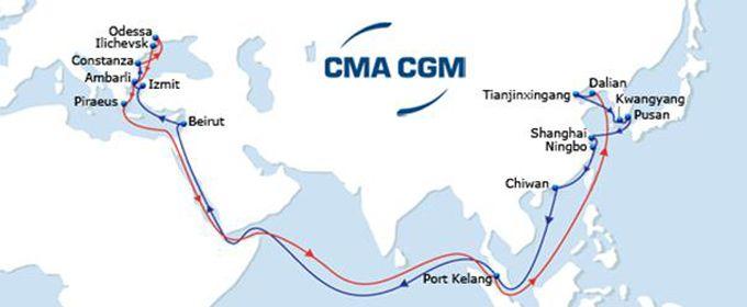 Le CMA CGM Litani, troisième d'une série de 28 porte-conteneurs entre en flotte