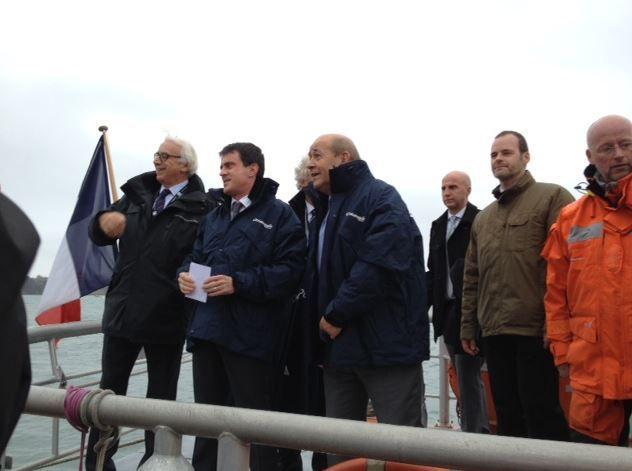 A Brest, les Sauveteurs en Mer SNSM entendus par Manuel Valls