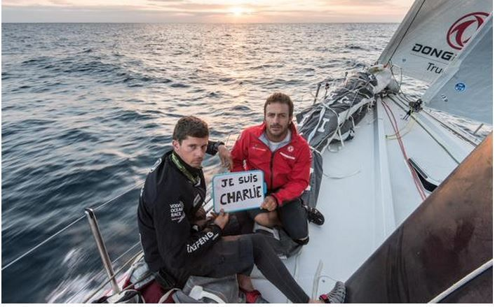 Volvo Ocean Race - Je suis Charlie, pour Team Dongfeng