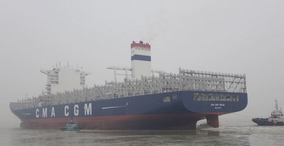 Entrée en flotte du CMA CGM Volga, 8ème porte-conteneurs d'une série de 28