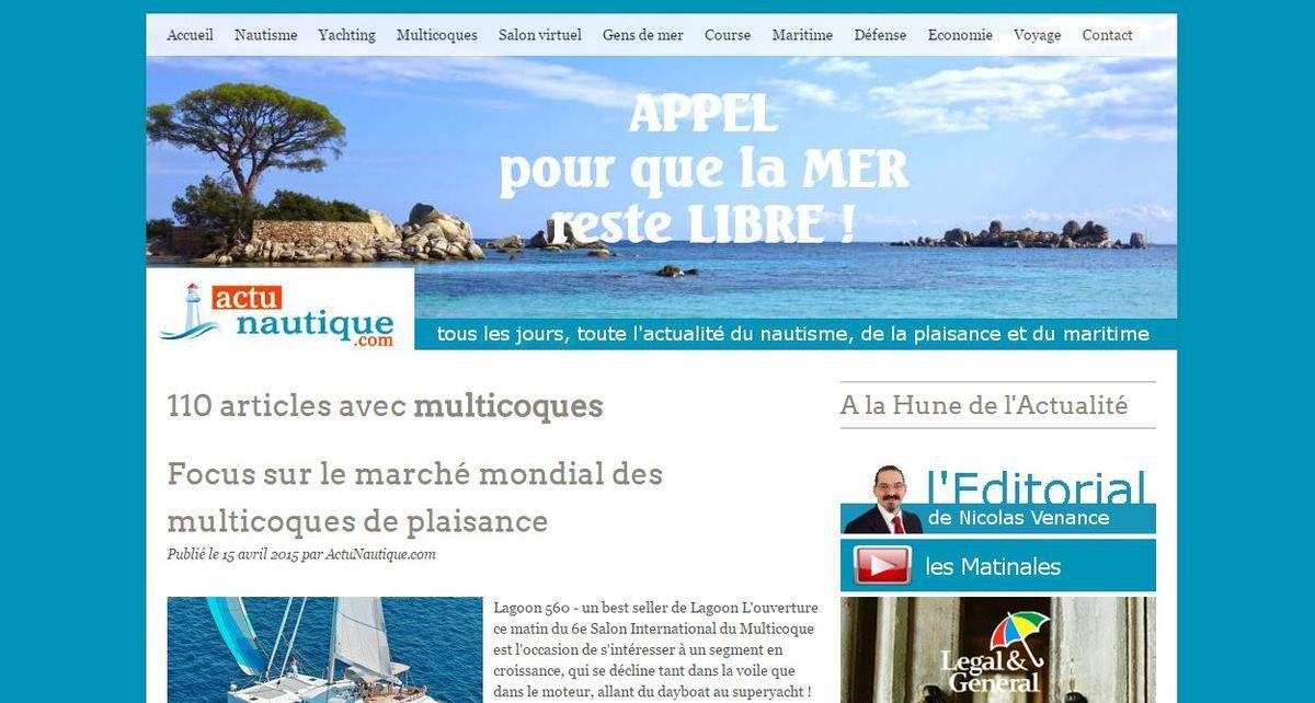 Salon International du Multicoque - ActuNautique.com lance une chaîne d'info dédiée aux multicoques
