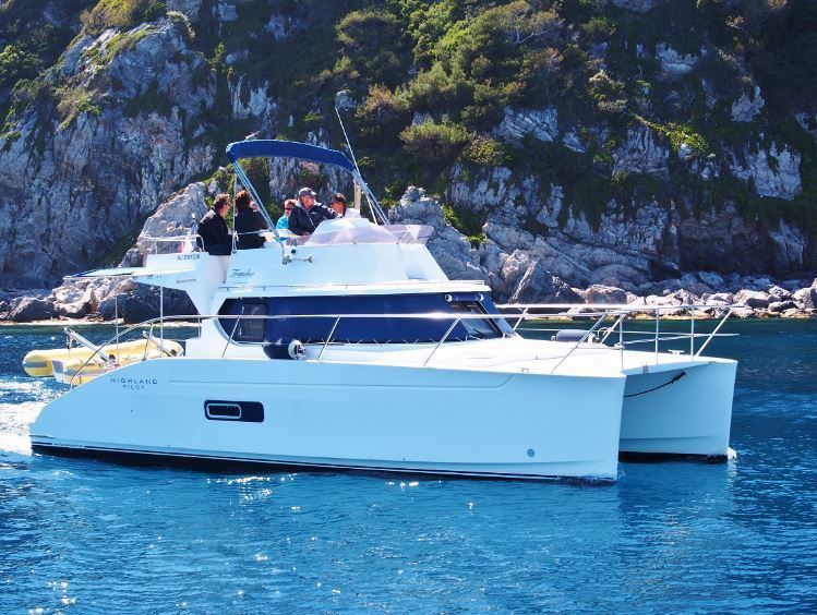 Martine et Dominique parlent de leur catamaran Fountaine-Pajot Highland 35