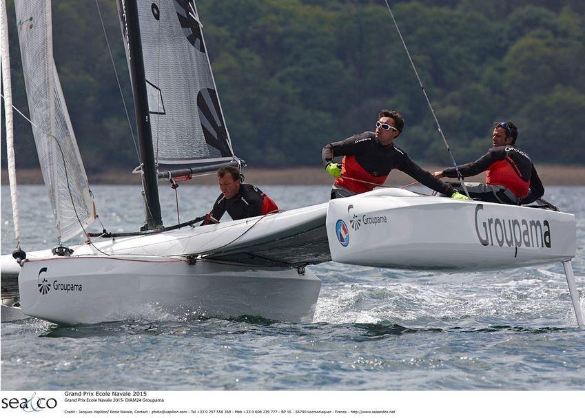 Franck Cammas vainqueur du Grand Prix de l'Ecole Navale