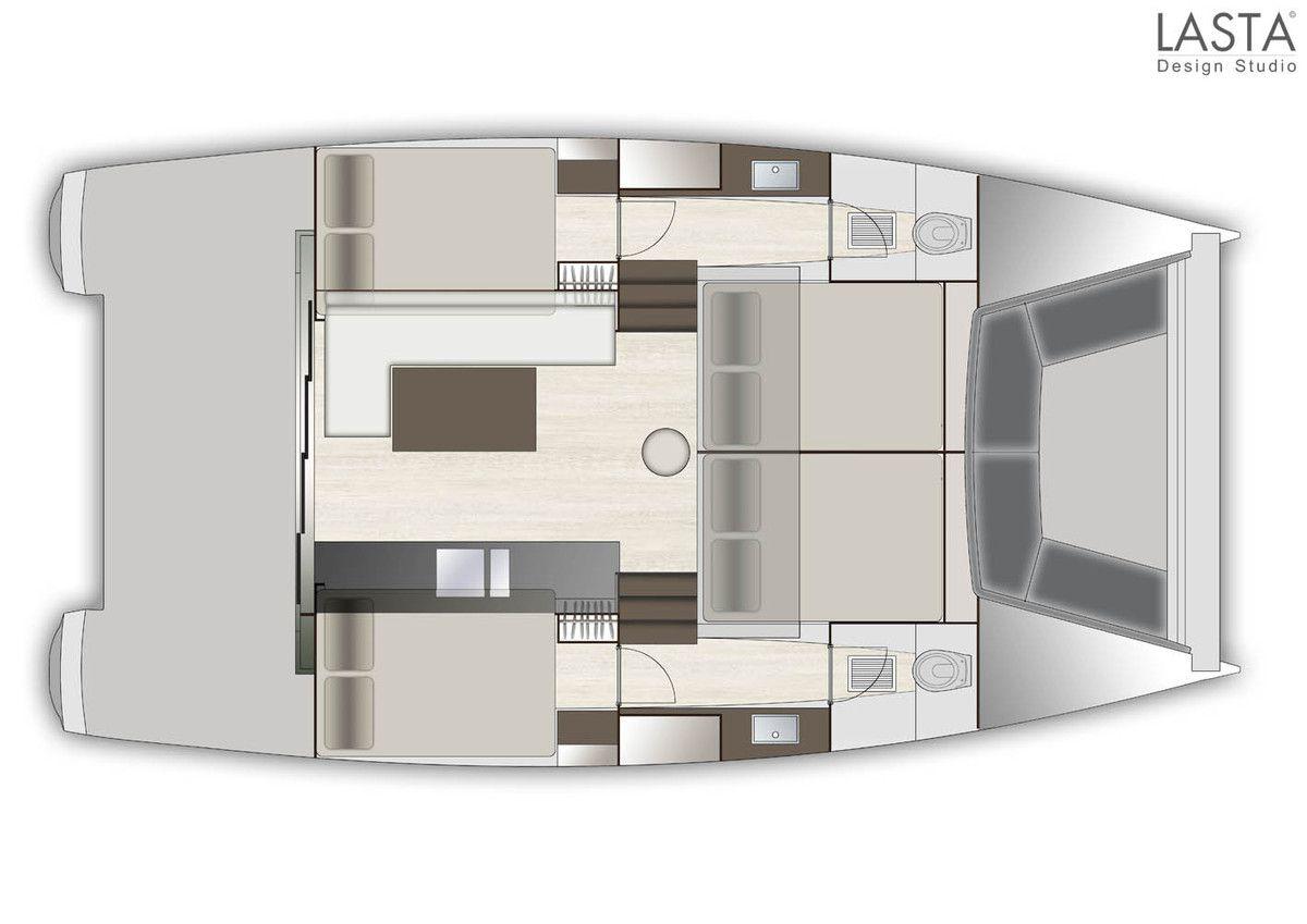 Le chantier Aventura fige le design de son premier catamaran motoryacht