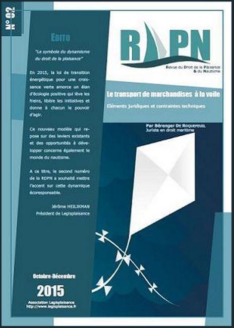 Le second numéro de la  Revue du Droit de la Plaisance et du Nautisme (RDPN) est paru !