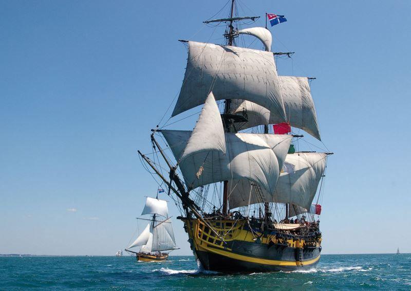 l'Etoile du Roy, frégate corsaire de 3 mâts, fleuron d'Etoile Marine Croisières